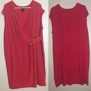 Lane Bryant Red Sleeveless Dress